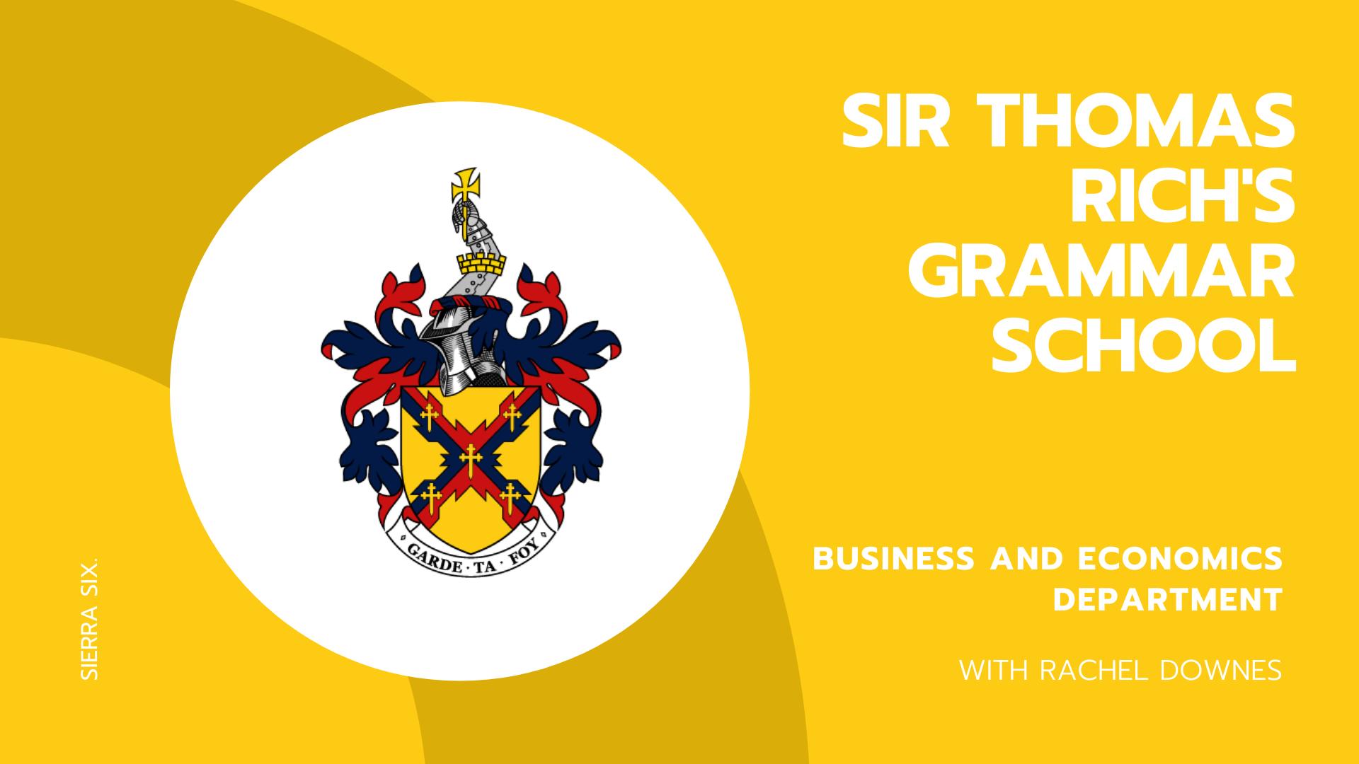 Sierra Six Media, SEO agency educational workshops: Sir Thomas Rich's Grammar School